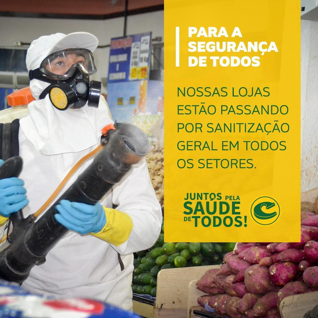 Lojas Campelo passam por sanitização para a segurança dos clientes