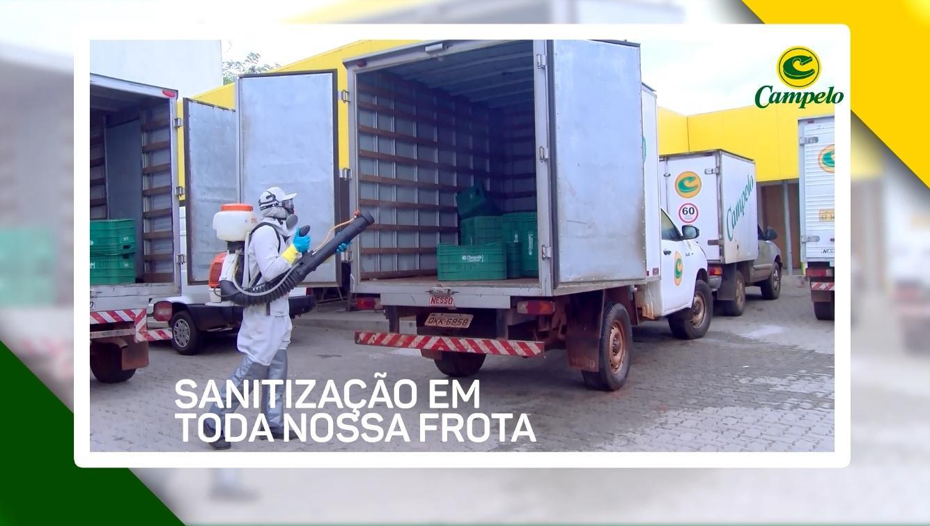 Frota de veículos de entrega do Campelo passam por sanitizações diariamente