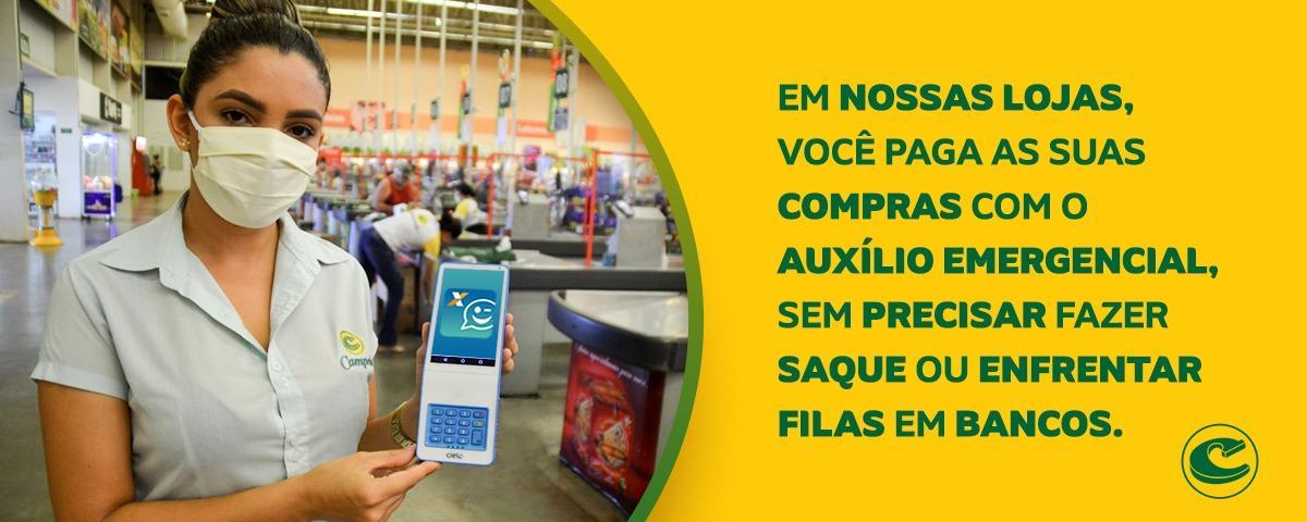 Lojas Campelo aceitam pagamento das compras com o auxílio emergencial