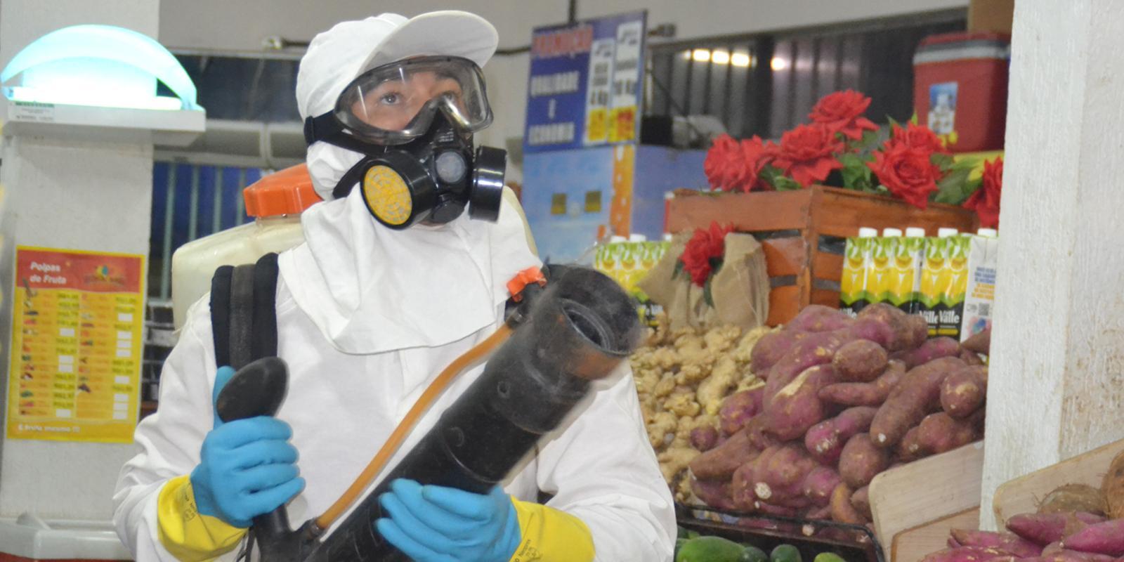 Lojas Campelo são sanitizadas diariamente para a segurança de todos
